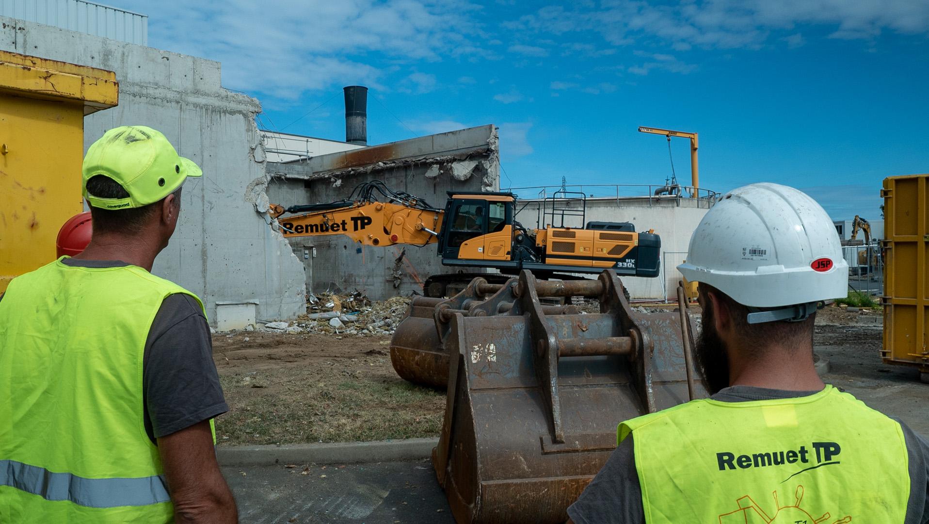 ZONE BATIMENT EX-SECHEUR<br />Déconstruction du bâtiment et des équipements