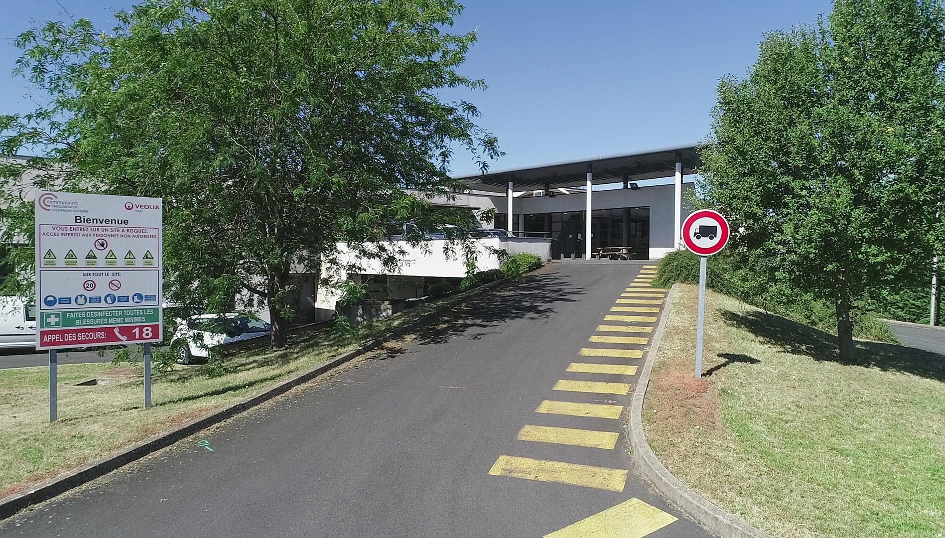 USINE ACTUELLE<br />Voirie d'accès aux locaux administratifs